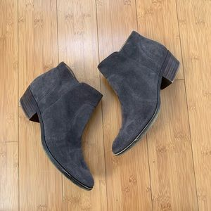 Lucky brand grey suede booties size 7
